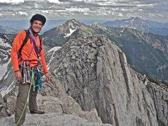 Rock Climbing Photo: Lone peak summit wall. Open Book. Trip Report: rjo...