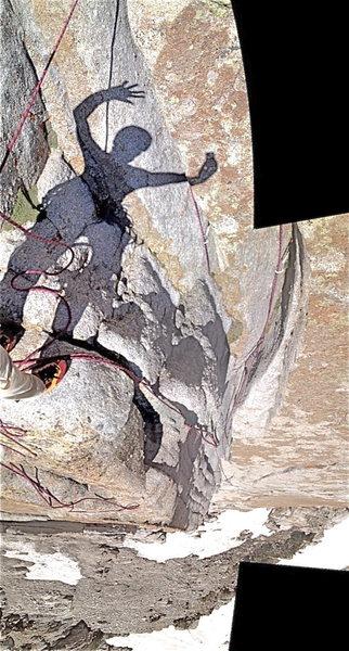 Tripple over hang. Trip Report: http://rjohnasay.blogspot.com/2012/06/utah-lone-peak-cirque-triple-overhangs.html