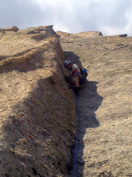 Rock Climbing Photo: Keith on the sharp end