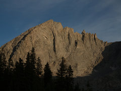 Rock Climbing Photo: Bollinger Peak from Shadow Lake. The North East Ri...