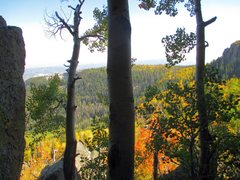 Rock Climbing Photo: Enjoying the scenery, and fall colors at the base ...