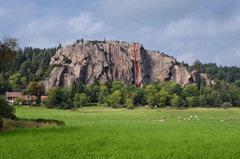 Rock Climbing Photo: Tor Line on Heller Cliff.