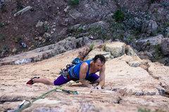 Rock Climbing Photo: Climber Clif on Dizzi Lizzi - 3 Photo by Doug Lint...