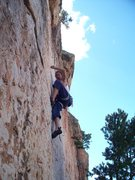 Rock Climbing Photo: Monodoigt Intensity on Cactus Rose Limestone - She...