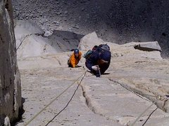 Rock Climbing Photo: Bosier and Matt high on the route.. such an awesom...