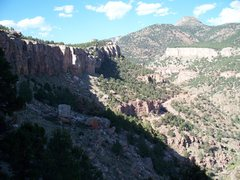 """Rock Climbing Photo: Shelf Road COLO North cliff-band past """"The Gy..."""