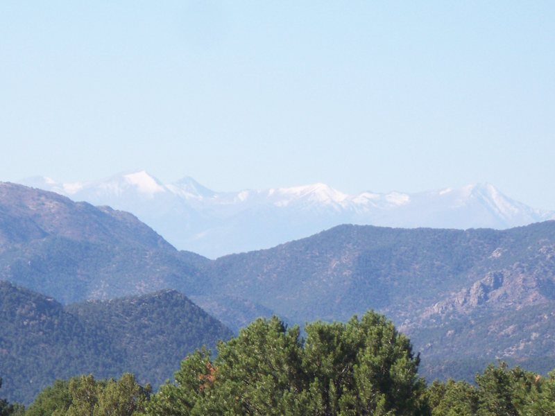 Sangre de Cristo Range from The Bank Campground of Shelf Road, COLO<br> Photo by Clif Loucks