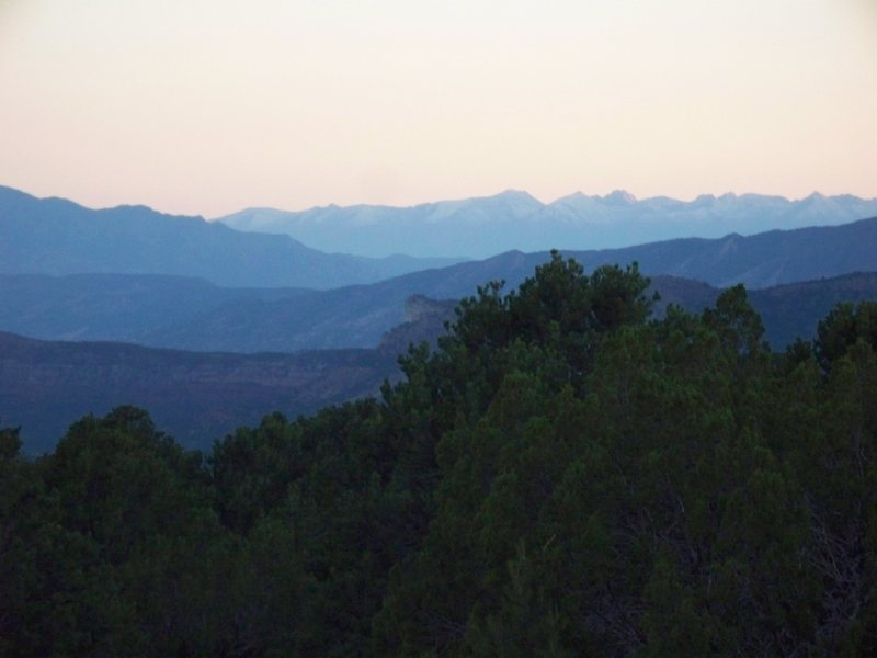 Mountain Ridges cascading into horizon - The Bank Campground - Shelf Road COLO <br> Photo by Clif Loucks
