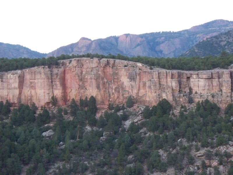 Rock Climbing Photo: Cactus Cliff Center - from The Bank Campground - S...