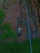 Rock Climbing Photo: Blue Mounds SP SW-MN Clif TR on Easy Street 5.6+