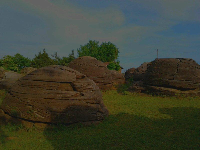 Rock City Kansas Boulders - From Back Side toward Center