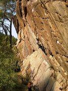 Rock Climbing Photo: Zac on The Pump and The Pendulum.