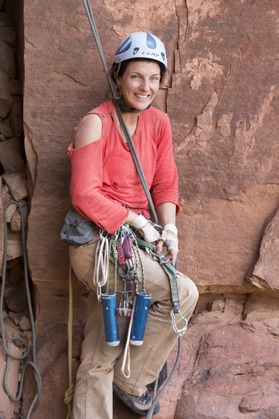 Rock Climbing Photo: After FA, with gear used.