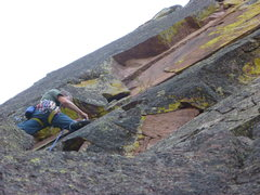 Rock Climbing Photo: Nearing the crux.