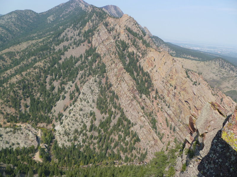 Rock Climbing Photo: Redgarden and the West Ridge from Continental Crag...