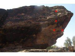 Rock Climbing Photo: Huckleberry beta.