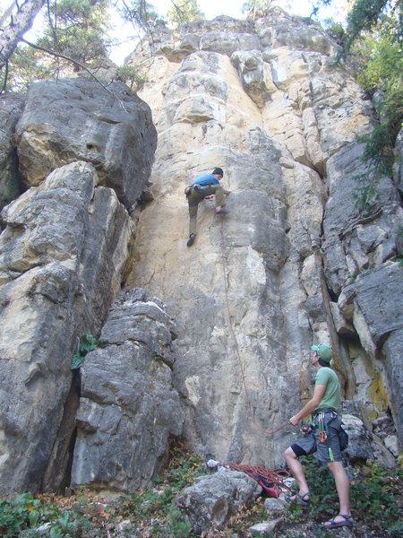Rock Climbing Photo: Me at the crux. JuggerMeister, 5.11a Booze Wall, T...