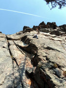 Rock Climbing Photo: Dave slabbin'.