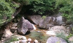 Rock Climbing Photo: Great roadside area on the way up to Mizugaki.