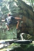 Rock Climbing Photo: biggest move in the problem, which may make it hei...