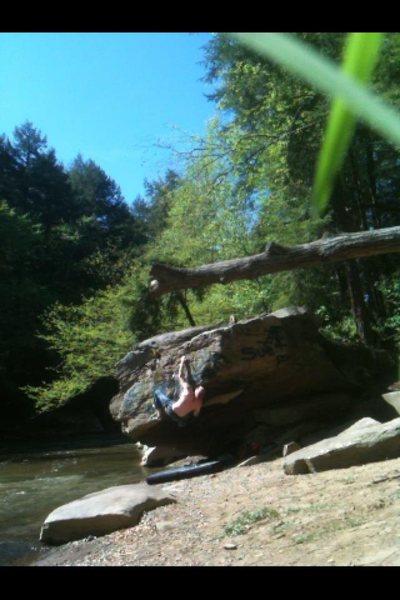 Rock Climbing Photo: trying not to get bitten on arachnaphobia