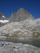 Rock Climbing Photo: Banner Peak as seen from Nydiver Lakes.