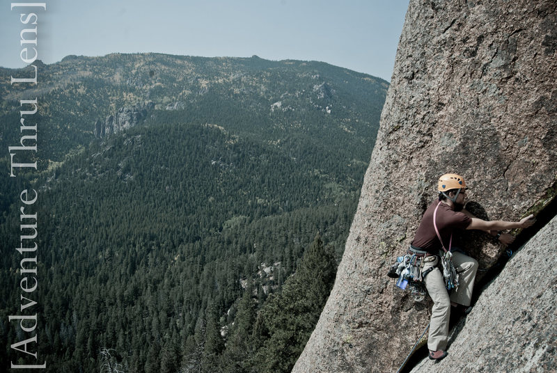 Rock Climbing Photo: Pitch 1 of Trail of Tears (5.9-).  patrickbetts.ze...