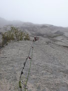 Rock Climbing Photo: A nice trip on a misty morning