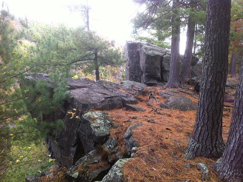 Rock Climbing Photo: Picnic area looking North. Near low prow is over E...