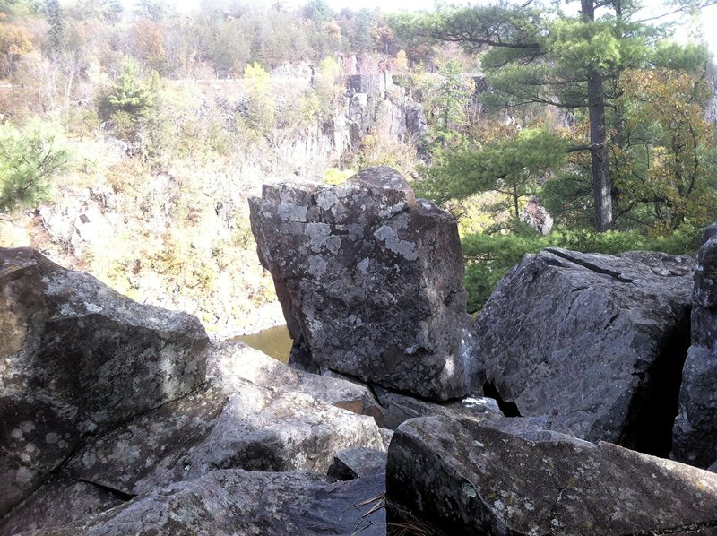 Rock Climbing Photo: The small column in the Picnic Area prow. It is ea...