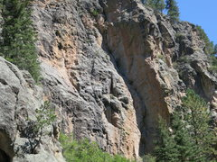 Rock Climbing Photo: The Hidden Tower Wall. Routes start on the short b...
