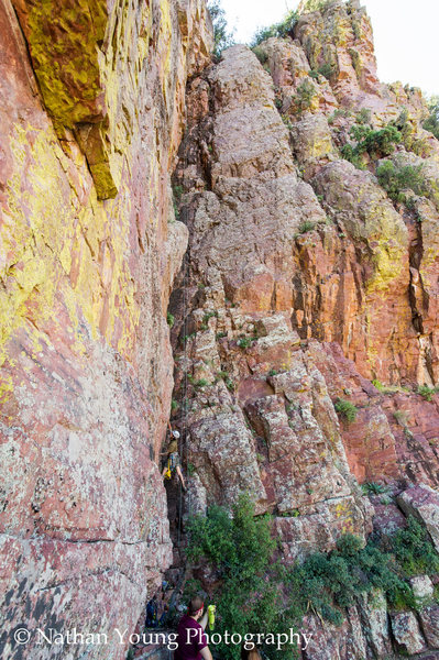 Rock Climbing Photo: Photo was taken on September 16th 2012.  The secon...