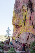 Rock Climbing Photo: You can reach above and clip the first bolt on the...
