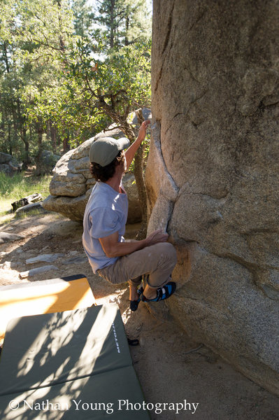 Rock Climbing Photo: A guy I met at Groom one Friday afternoon sending ...