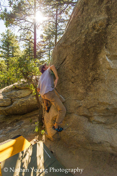 A guy I met at Groom one Friday afternoon sending The Cable Route V0-.  Great warmup.