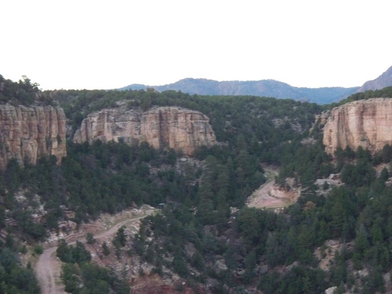Rock Climbing Photo: Cactus Cliff Left Side - from The Bank Campground ...