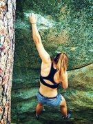 Rock Climbing Photo: Lauren on unnamed