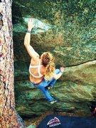 Rock Climbing Photo: amanda on v5