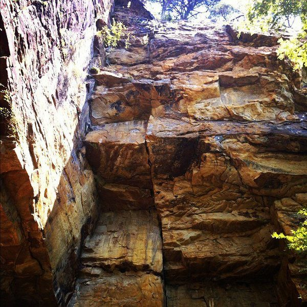 Rock Climbing Photo: I shot this mid-August 2012, on a strangly cool da...