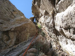 Rock Climbing Photo: Marta Reece leading up the east gully between Low ...