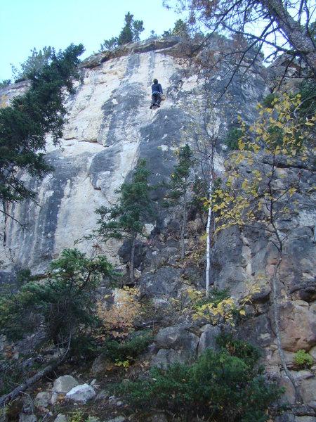 Rock Climbing Photo: Koo Koo's Nest, 5.11b. In Spearfish Canyon, you wi...