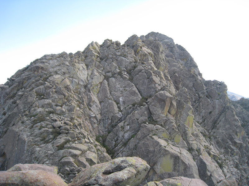 Rock Climbing Photo: The north face of Low Horn 5 as viewed from the su...
