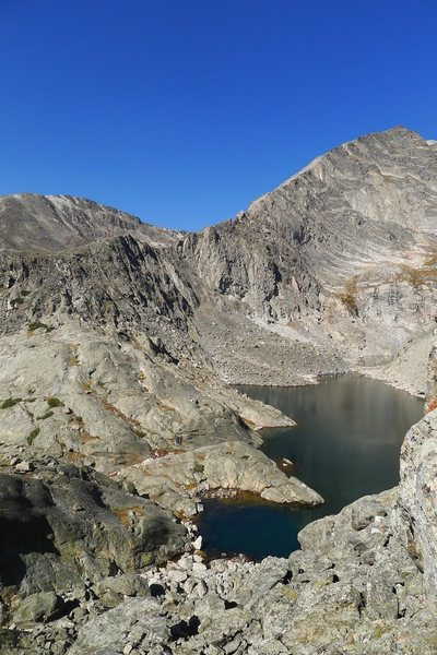 Rock Climbing Photo: Spectacle Lakes from the approach gully.