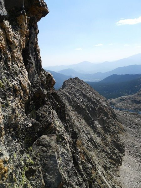 Rock Climbing Photo: Most of the rock on the exposed bits was good (for...