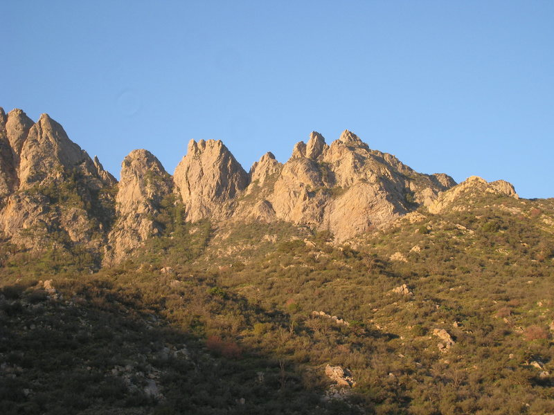 Rock Climbing Photo: All of the horns in view on our approach hike 9/22...