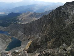 Rock Climbing Photo: Another view of Spectacle Lakes and Donner Ridge.