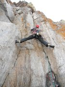Rock Climbing Photo: Nice stem action on this route.