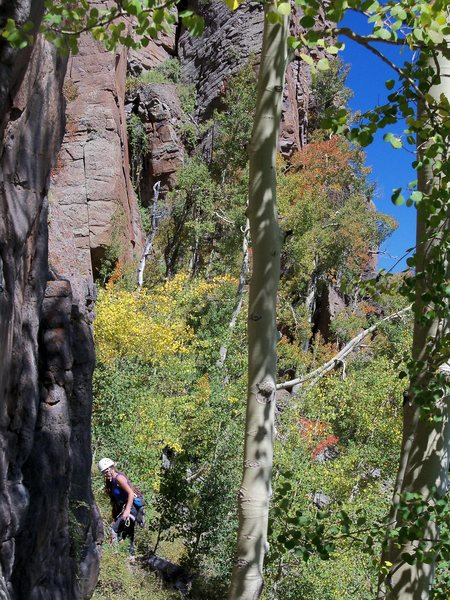 Rock Climbing Photo: From the trail looking in the direction of the chu...