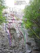 Rock Climbing Photo: Routes just around the corner from Extreme Unction...