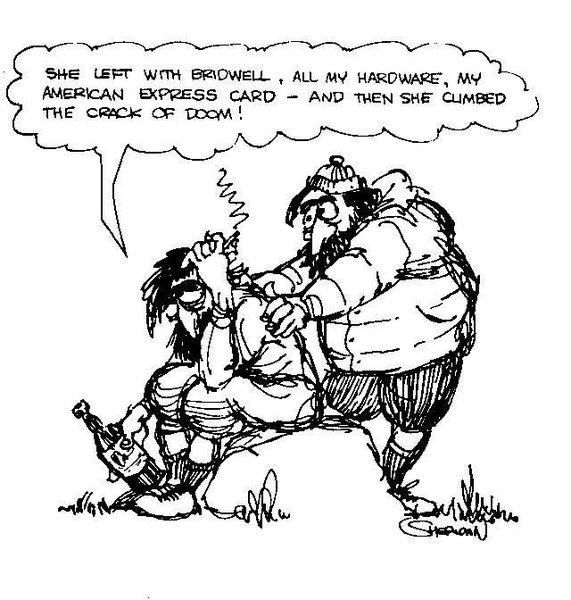 Sheridan Anderson comic.<br> <br> More here<br> http://www.supertopo.com/climbing/thread.php?topic_id=457072